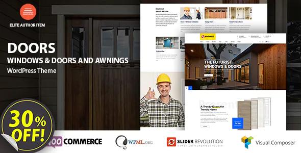 Windows Doors High Quality WordPress Theme