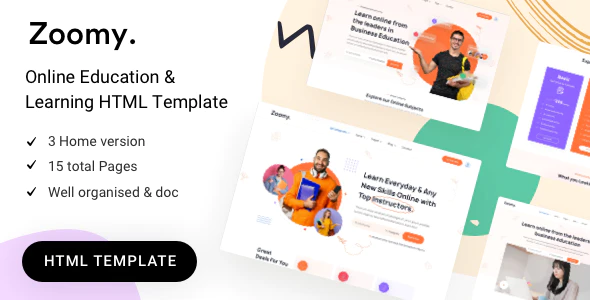 Zoomy education HTML Template