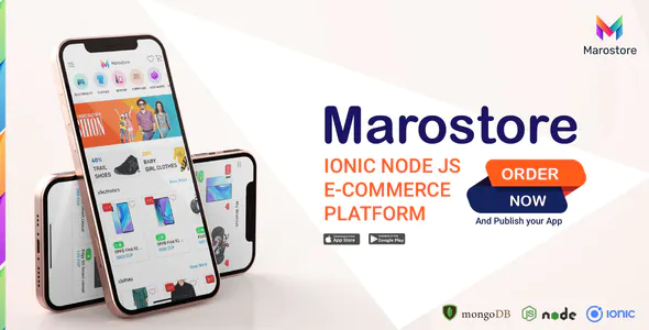 ionic node js e commerce platform full application android ios dashboard backend