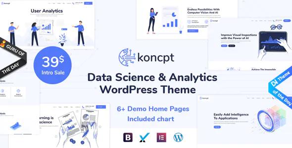 koncpt Data Science Analytics WordPress Theme
